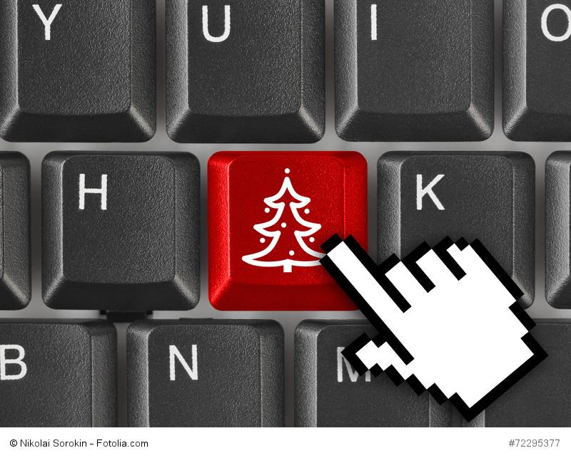 Computer keyboard with Christmas tree key